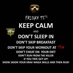 STW's Advice on Friday the 13th!