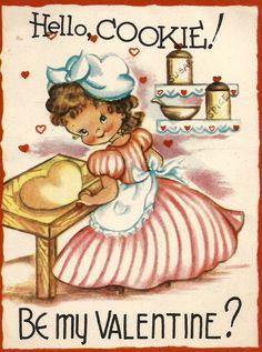 Valentines Greetings, Vintage Valentine Cards, Vintage Greeting Cards, Vintage Holiday, Valentine Day Cards, Be My Valentine, Funny Valentine, Vintage Images, Retro Vintage