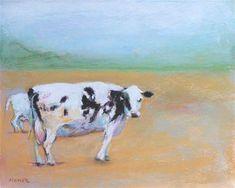 Cow Art, Fine Art Gallery, Pastel, Artist, Animals, Painting, Cake, Animales, Art Gallery