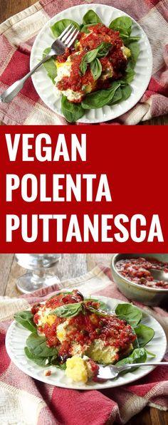 Vegan Polenta Puttanesca