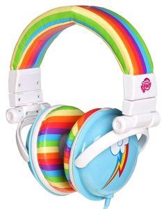 My Little Pony Rainbow Dash Headphones. Rainbow Dash is my favorite pony! My Lil Pony, My Little Pony Party, Cute Headphones, Little Poney, Imagenes My Little Pony, My Little Pony Friendship, Rainbow Dash, Equestria Girls, Little Girls