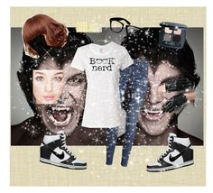 """""""I have no time for stupid idiots"""" by loveydovey17 ❤ liked on Polyvore featuring Seabrook, H&M, Bare Escentuals, Sankins, NIKE and ZeroUV"""