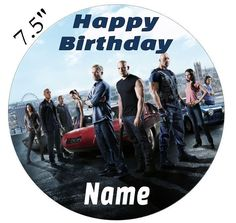 Personalised Fast And Furious Edible Icing Topper Precut Round Square Rectangle #Unbranded