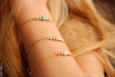 Lavender beaded bracelet by BoutiqueMinimaliste on Etsy, $14.00