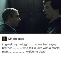 At this point Gatiss is just telling us Johnlock's canon Sherlock Fandom, Benedict Cumberbatch Sherlock, Sherlock Quotes, Sherlock John, Jim Moriarty, Watson Sherlock, Supernatural Fandom, Sherlock Bbc Funny, Sherlock Series