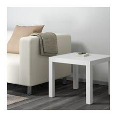 IKEA - LACK, Table d'appoint, blanc, , Facile à monter.Léger donc facile à déplacer.