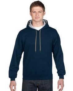 Heavy Blend Adult Contrast Hooded Sweatshirt 185C00