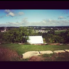 View from New Glarus Brewery in New Glarus, WI
