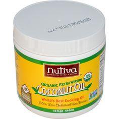 Nutiva, Organic Extra Virgin Coconut Oil, 15 fl oz (444 ml) - iHerb.com