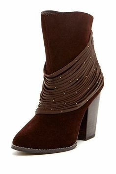 Brown Boots with Draping.