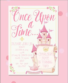 Shabby Chic Once Upon A Time Invitations by BestDayEverGraphics