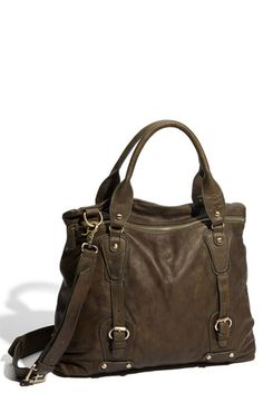 Love the earthy tone on this satchel!