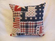 Kissen mit amerikanischer Flagge von Kissenduft auf DaWanda.com