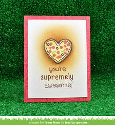 the Lawn Fawn blog: Lawn Fawn Intro: Pizza My Heart, Stitched Heart Stackables, Heart Stackables