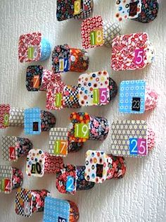 Advent Calendar from recycled yogurt containers ...