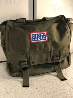 780ecb5ac05ac USO Army Duffle Style Backpack With USO Embroidery And Military Style  Buckles  fashion  clothing  shoes  accessories  unisexclothingshoesaccs ...