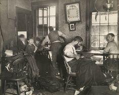 Jacob Riis: photographer | tenement sweatshop | Ludlow Street, New York City, U.S.A. | c. 1889