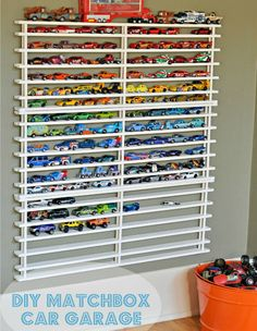 Matchbox Car Shelf System - DIY Toy Organizing Ideas - Country Living