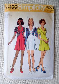 Vintage sewing pattern Simplicity 5499 by momandpopcultureshop