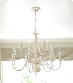 Perfect idea for my ugly brass chandelier!