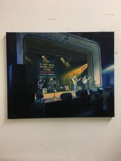 Oil on canvas, Ian Siegal Band at The Great British Rhythm & Blues Festival 2017 where I was Artist-in-Residence