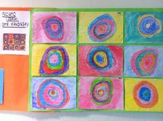 Cerchi di Kandinsky con acquerelli