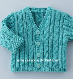 knit kids sweaters – About Baby Baby Knitting Patterns, Baby Cardigan Knitting Pattern Free, Baby Sweater Patterns, Knit Baby Sweaters, Knitted Baby Clothes, Knitting For Kids, Knitting Designs, Baby Boy Jackets, Crochet Baby