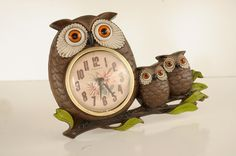 OWL CLOCK Mid Century New Haven Clock brought to you by The HeartTheHome on Etsy!