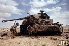 German Panzer IV destroyed.