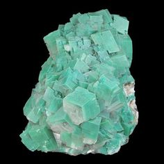 Calcite with Dioptase inclusions; Tsumeb Mine, Namibia / Mineral Friends <3