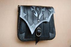 For The Horde-Leather bag-World of Warcraft-Leather purse-WOW-Carved leather bag-tooled leather purse-GEEK leather bag by ForgianticaLeather...