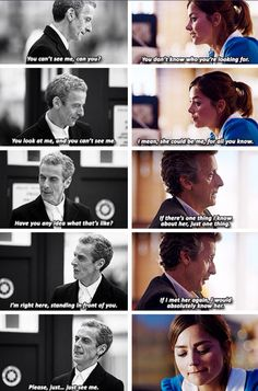 The 1st time & the last time that Clara was with 12.     Damn you Moffat!