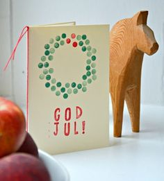"Diy christmas cards 529524868684160938 - DIY christmas card (P. ""god jul"" is Norwegian) (Diy Paper Wreath) Source by Sodermanna Diy Christmas Cards, Noel Christmas, Xmas Cards, Winter Christmas, All Things Christmas, Diy Cards, Handmade Christmas, Holiday Crafts, Christmas Decorations"