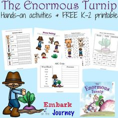 Enormous Turnip Hands-On Activities and FREE Printable
