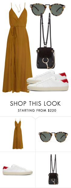 """Sem título #4853"" by beatrizvilar ❤ liked on Polyvore featuring Loup Charmant, Karen Walker, Yves Saint Laurent, Chloé and ZoÃ« Chicco"