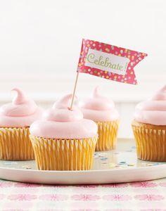 Pink Whipped cupcakes! Pink Birthday Party Kat Teutsch photographer Karin Olsen-prop stylist Janine Kalesis-food stylist