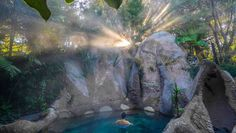 Hot spa pool in no - We live in a geothermal wonderland, so make the most of it with a trip to one of our top six places to warm up to this winter. Thermal Pool, New Zealand Travel Guide, Lake Tekapo, Rock Pools, Dark Places, Best Hikes, Garden Pool, Hot Springs, Travel Guides