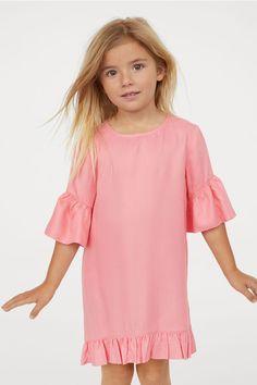 de8a184c91c Flounced Dress - Pink - Kids | H&M US 1 Straight Cut Dress, Pink Kids