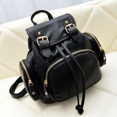 Fashion Black Mini Backpack