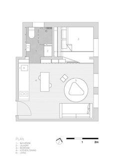 Фото интерьера 'Квартира-тетрис площадью 27 кв. метров в Австралии - 11' на портале Oselya