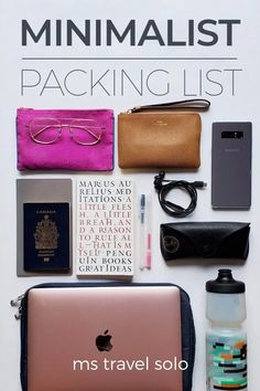 Have you always wonder how to pack like a minimalist? Learn all my travel packing secrets in my blog post on creating the perfect Minimalist Packing List. And don't forget to pin it on your Pinterest board! #minimalistpackinglist #minimalisttravelpackinglist #packinglistforwomen #packinglistforfemales #mstravelsolo Packing List For Travel, Packing Tips, Vacation Packing, Packing Checklist, Travel Advice, Travel Tips, Travel Hacks, Muji Pens, Minimalist Packing