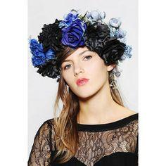 Katie Burley Millinery Stormy Weather Flower Crown Headwrap