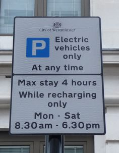 Parking bays for electric cars
