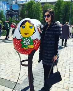 Easter egg by #annamorgun ! Such a lovely thing to see my sweet Mashenka in the downtown of #kyiv . My dear, I'm waiting your photos near my Easter egg! The most active will get a surprise by Anna Morgun. Stay stylish and blessed be my love!  #fashionweek #fashion #faahionista #fashionstyle #fashionblogger #fashionable #easter #easteregg #ukraine #look #picoftheday #photooftheday #style #styleblogger #stylish #instadaily #instacool #instamood #instasize #instagood #instalike