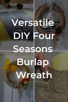 Need a cheap, quick and versatile wreath? This budget friendly DIY is for you. All you'll need is a pool noodle, glue gun, burlap and a needle and thread to make a few easy stitches. Easy to do and full tutorial available. Burlap Wreath Tutorial, Diy Wreath, Wreath Burlap, Tulle Wreath, Making Burlap Wreaths, Do It Yourself Decoration, Easy Stitch, Boho Home, Burlap Fabric