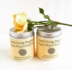 Organic Whipped Body Butter  Sweet Orange by BeauTeaStudio on Etsy #hvnyteam, #hudsonvalley