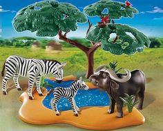 PLAYMOBIL® 4828 - Kaffernbüffel mit Zebra: Amazon.de: Spielzeug