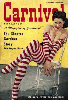 Carnival cover from Hillman publication. Movie Magazine, Pulp Magazine, Magazine Covers, Pulp Fiction Art, Pulp Art, Vintage Comic Books, Vintage Comics, Vintage Art, Old Magazines