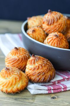 Cornmeal Choux Pastry (aka Broa de Fuba)...I LOVE these, you can find these in any Brazilian bakery. Perfect with coffee or tea.