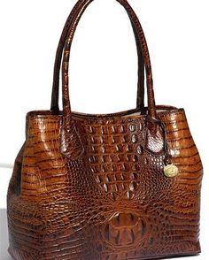 Brahmin purses are pretty #satchel #handbag #classy #leather #chic #footedbottom #elegant #crossbody #interiorzipperpocket #organizerpocket #crocembossed #tote #stylishpurses